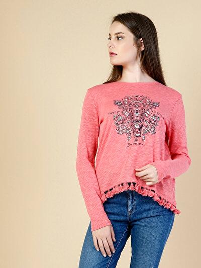 Купить со скидкой COLIN'S коралловый женский футболки длинный рукав