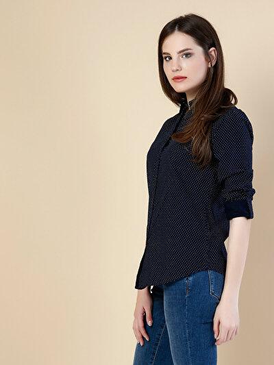 Купить со скидкой COLIN'S синий женский рубашки длинний рукав