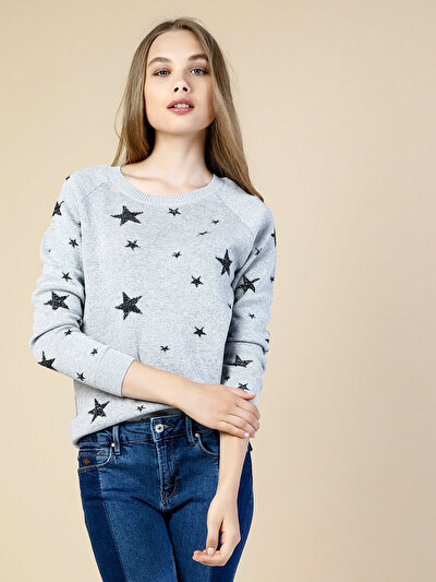 COLINS серый женский свитеры<br>Пол: женский; Цвет: смешанный серый; Размер INT: L;