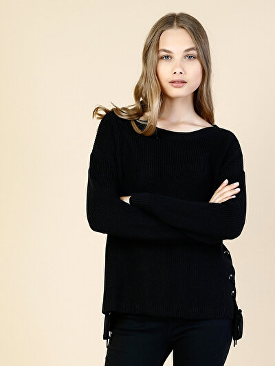 COLINS черный женский свитеры<br>Пол: женский; Цвет: черный; Размер INT: XS;