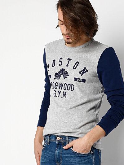 Купить со скидкой COLIN'S серый мужской футболки длинный рукав