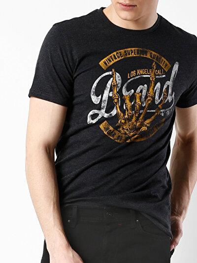 COLINS антрацит мужской футболки короткий рукав<br>Пол: мужской; Цвет: смешанный антрацит; Размер INT: S;
