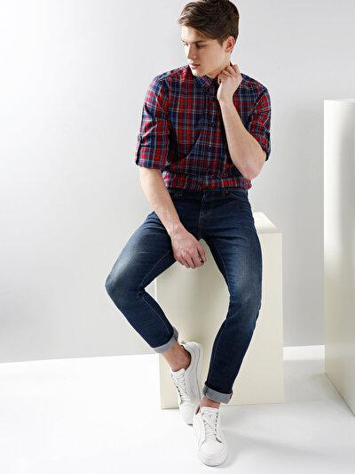 COLINS красный мужской рубашки длинний рукав<br>Пол: мужской; Цвет: красный; Размер INT: M;