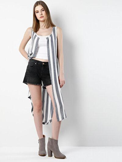 COLIN'S серый женский рубашки короткий рукав