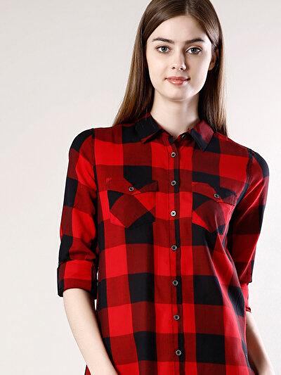 COLINS красный женский рубашки длинний рукав<br>Пол: женский; Цвет: красный; Размер INT: S;