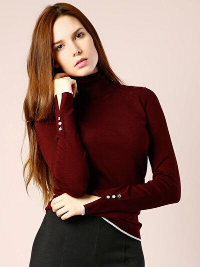 COLINS бордовый женский свитеры<br>Пол: женский; Цвет: бордовый; Размер INT: XS;