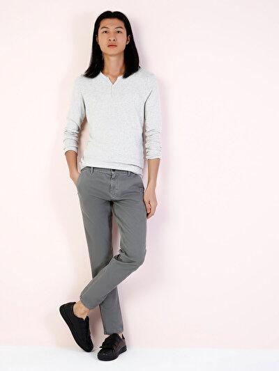 COLINS серый мужской футболки длинный рукав<br>Пол: мужской; Цвет: светло серый меланг; Размер INT: XXL;