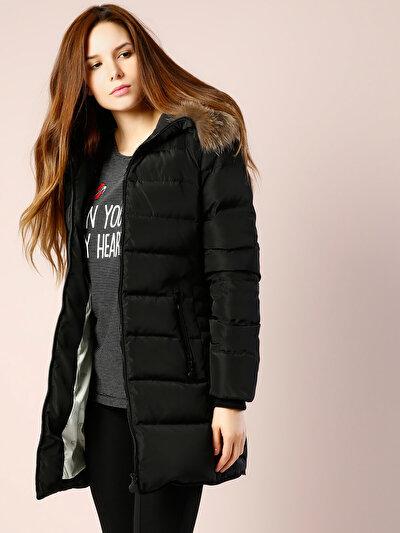 COLINS черный женский пальто<br>Пол: женский; Цвет: черный; Размер INT: XS;