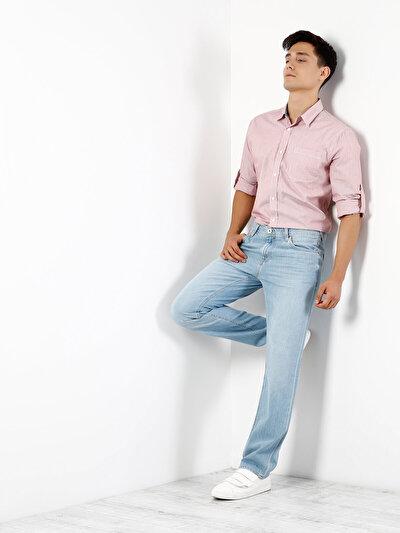 COLINS кораловый мужской рубашки длинний рукав<br>Пол: мужской; Цвет: кораловый; Размер INT: L;