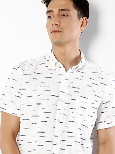 COLINS белый мужской рубашки короткий рукав<br>Пол: мужской; Цвет: белый; Размер INT: XL;