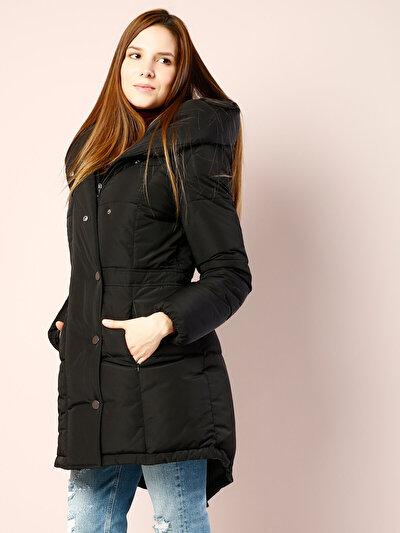 COLINS черный женский пальто<br>Пол: женский; Цвет: черный; Размер INT: XL;
