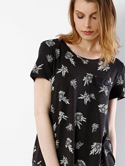 COLINS антрацит женский футболки короткий рукав<br>Пол: женский; Цвет: антрацит; Размер INT: M;