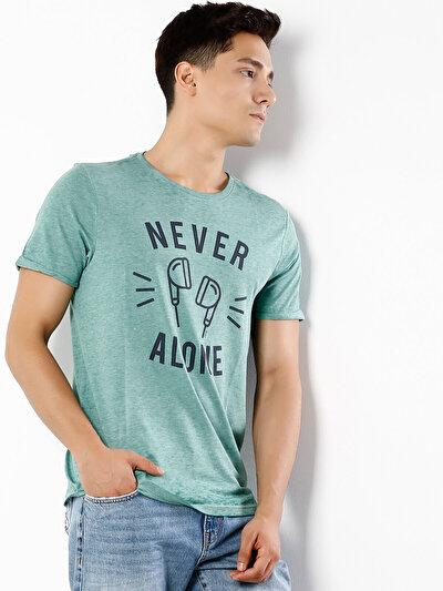 COLINS зеленый мужской футболки короткий рукав<br>Пол: мужской; Цвет: зеленый; Размер INT: XL;