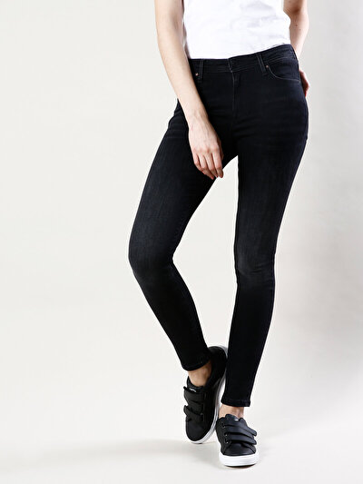 COLINS черный женский брюки<br>Пол: женский; Цвет: дарк опра уош; Размер INT: 27/32;
