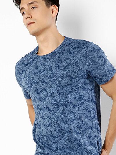 COLINS голубой <br>Пол: мужской; Цвет: индиго; Размер INT: XXL;