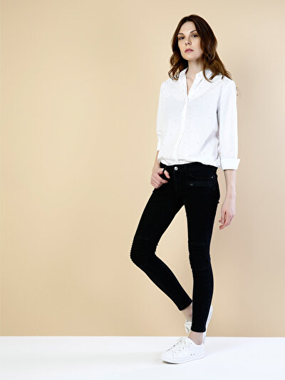 COLINS черный женский брюки<br>Пол: женский; Цвет: кандис вош; Размер INT: 26/32;