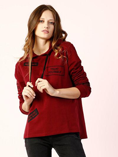COLINS бордовый женский толстовки<br>Пол: женский; Цвет: бордовый; Размер INT: M;