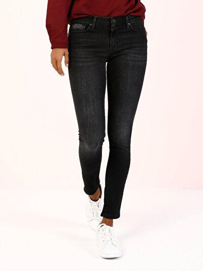 COLINS черный женский брюки<br>Пол: женский; Цвет: дарк опра уош; Размер INT: 24/30;
