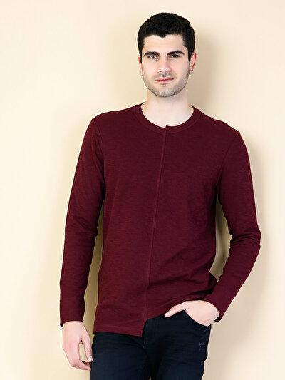 COLINS бордовый мужской футболки длинный рукав<br>Пол: мужской; Цвет: бордовый; Размер INT: M;