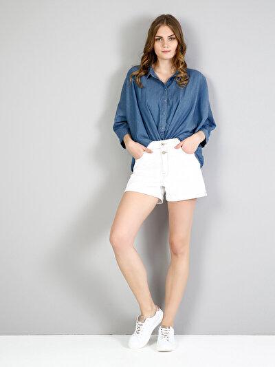 Изображение Голубой жен. Рубашки Длинний рукав