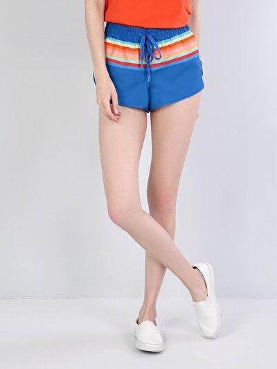 Изображение Синий жен. Пляжные шорты