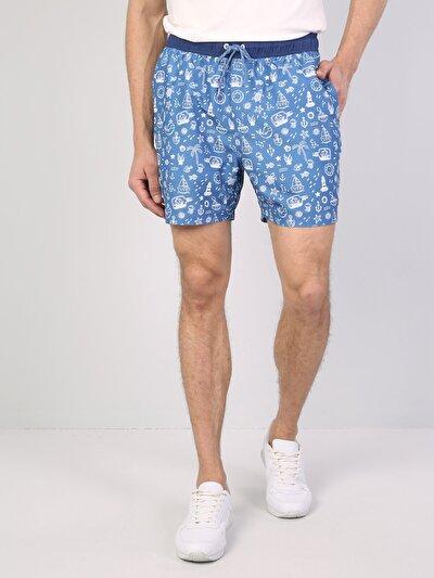 Изображение Голубой муж. Пляжные шорты