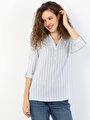 Показать информацию о Голубой жен. Блузки Длинный рукав